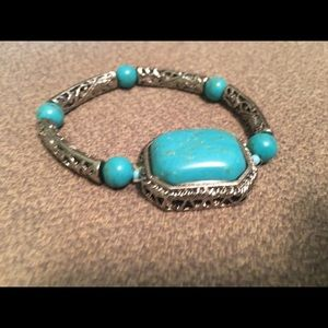 Blue and silver never worn bracelet
